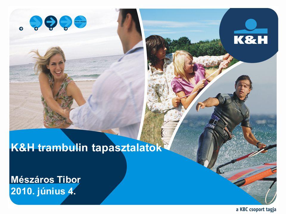 K&H trambulin tapasztalatok Mészáros Tibor 2010. június 4.