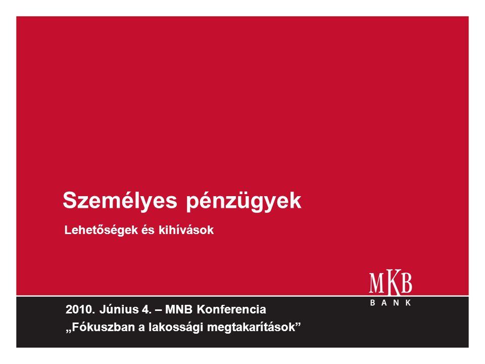 MKB NetBANKár Lakossági eseti átutalások aránya NetBANKáron (db) 2008-ban 75% 2009-ben 84% Havi 6-7 millió oldal letöltést generálnak a felhasználók