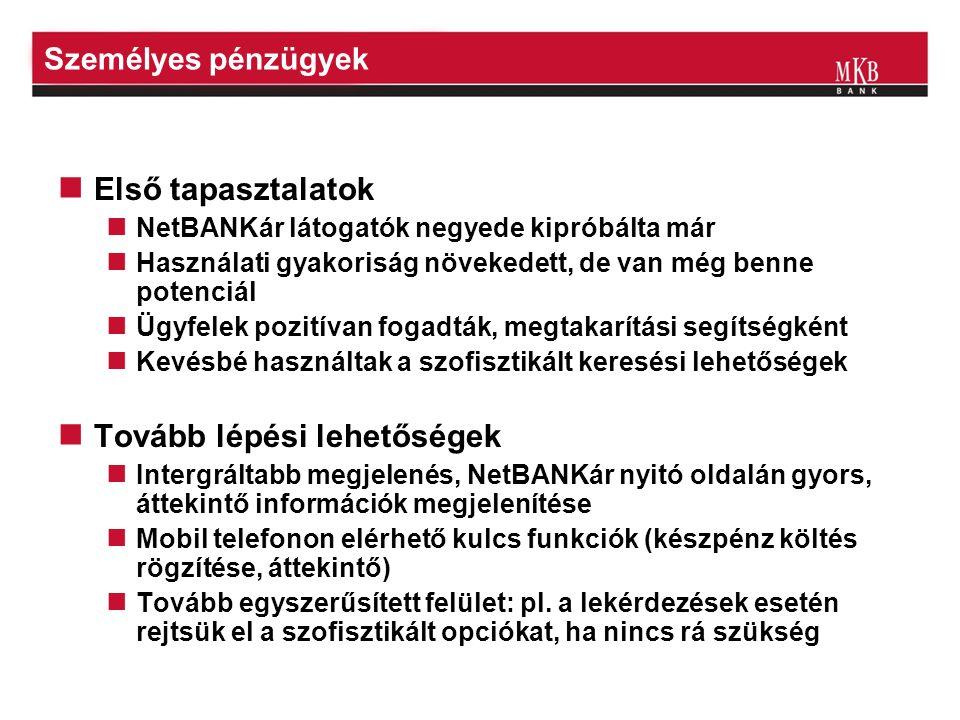 Személyes pénzügyek http://demonetbankar.mkb.hu/