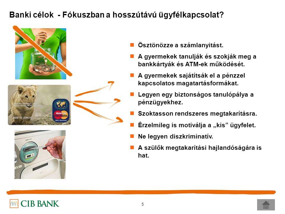 5 Banki célok - Fókuszban a hosszútávú ügyfélkapcsolat.