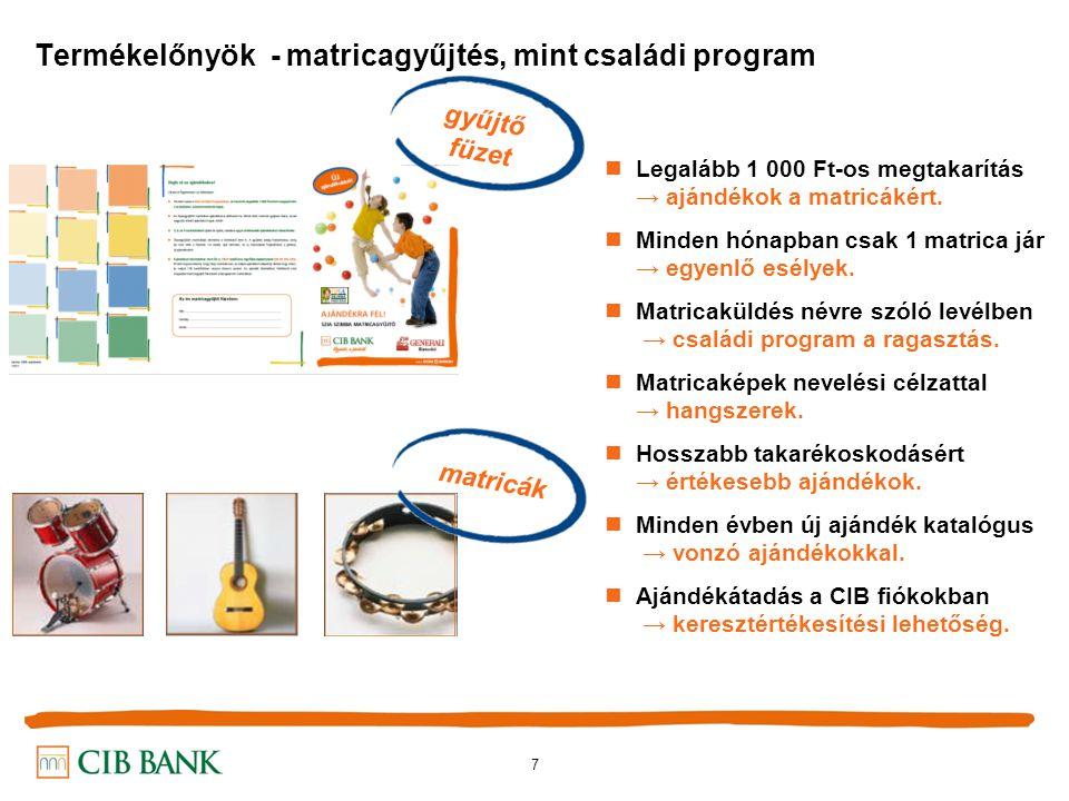 7 Termékelőnyök - matricagyűjtés, mint családi program Legalább 1 000 Ft-os megtakarítás → ajándékok a matricákért.