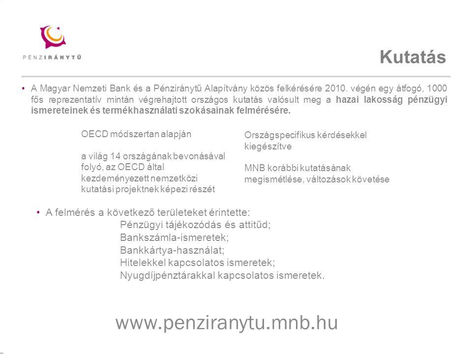 Mintacím szerkesztése Kutatás A Magyar Nemzeti Bank és a Pénziránytű Alapítvány közös felkérésére 2010.
