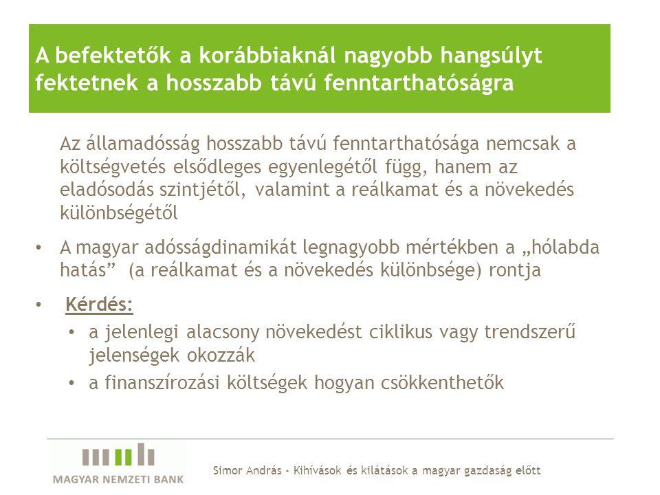 Simor András - Kihívások és kilátások a magyar gazdaság előtt Erős kormányzati elköteleződés a 3 százalék alatti hiánypálya mellett