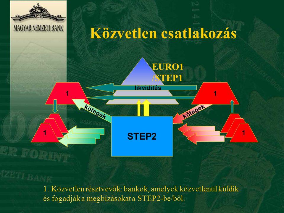 Közvetett csatlakozás 2 11 STEP2 1.Közvetlen résztvevő 2.