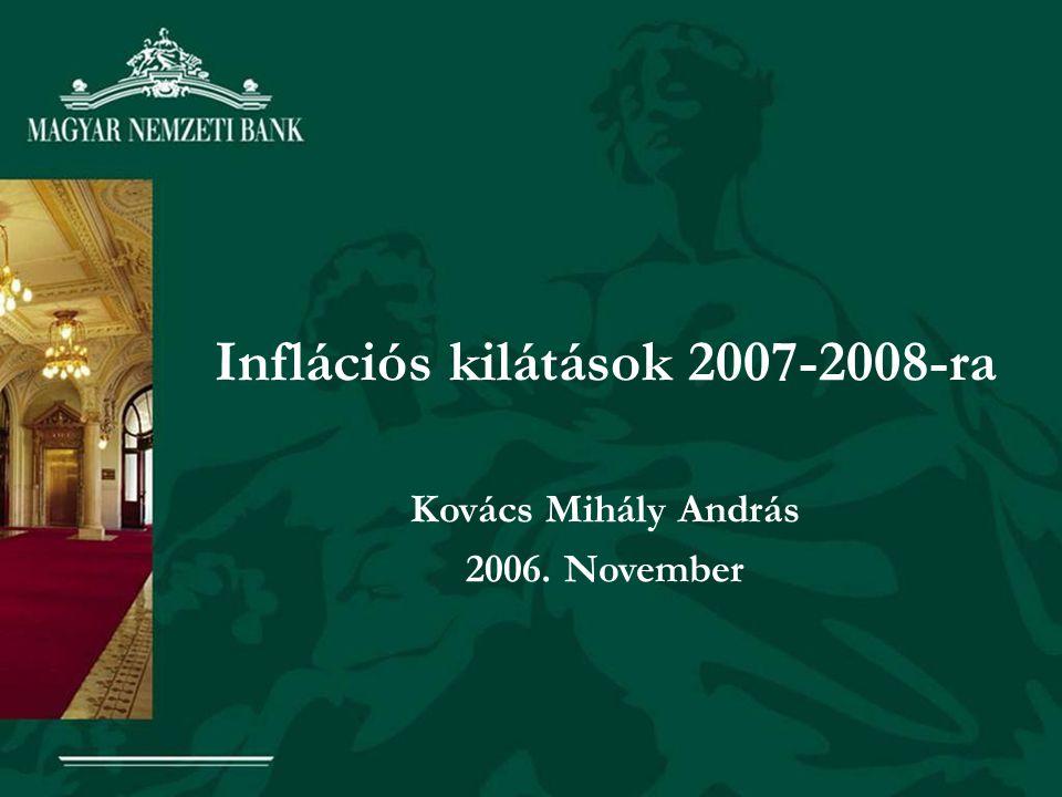 Inflációs kilátások 2007-2008-ra Kovács Mihály András 2006. November