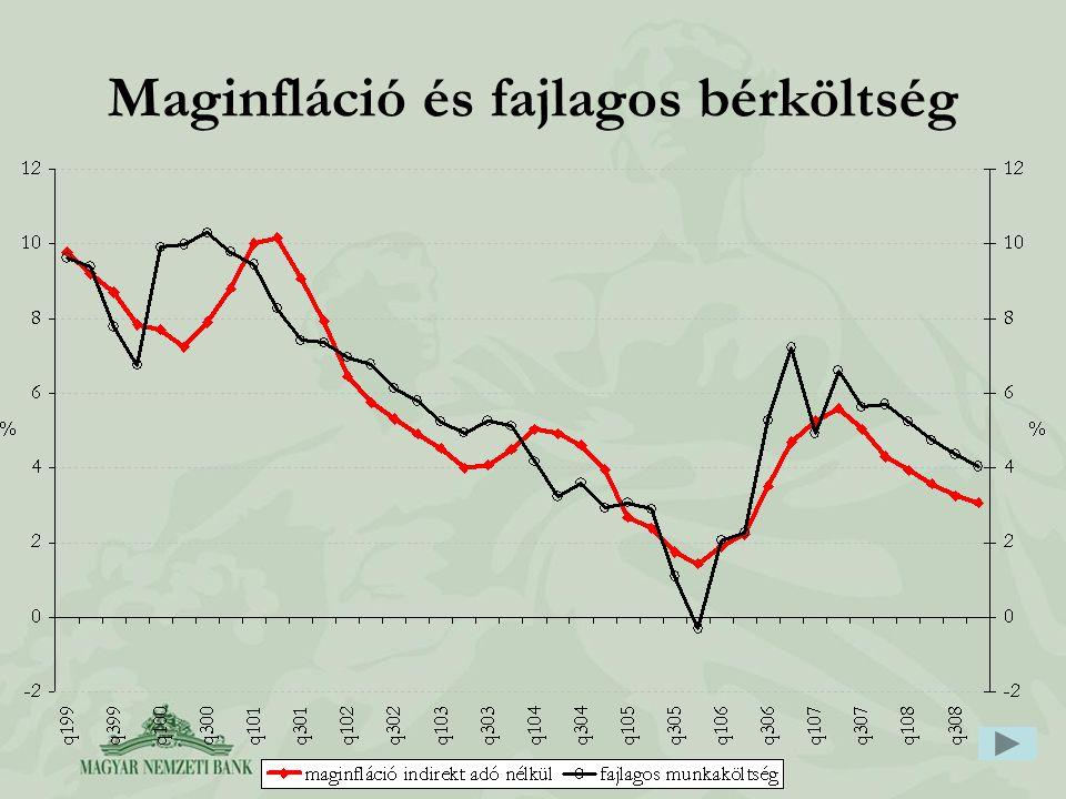 Maginfláció és fajlagos bérköltség