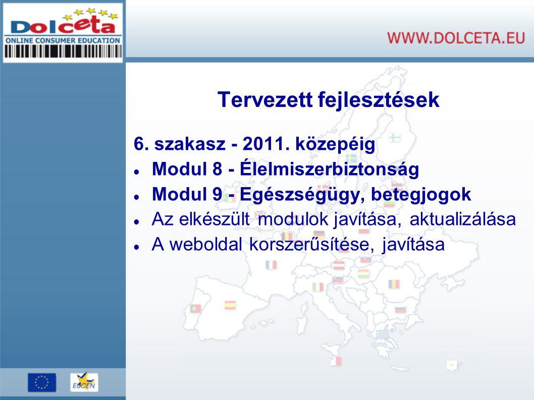 Tervezett fejlesztések 6. szakasz - 2011.