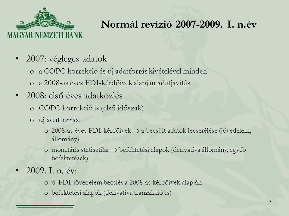 3 Normál revízió 2007-2009. I.