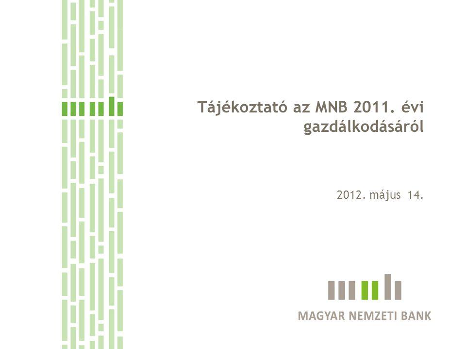 Tájékoztató az MNB 2011. évi gazdálkodásáról 2012. május 14.