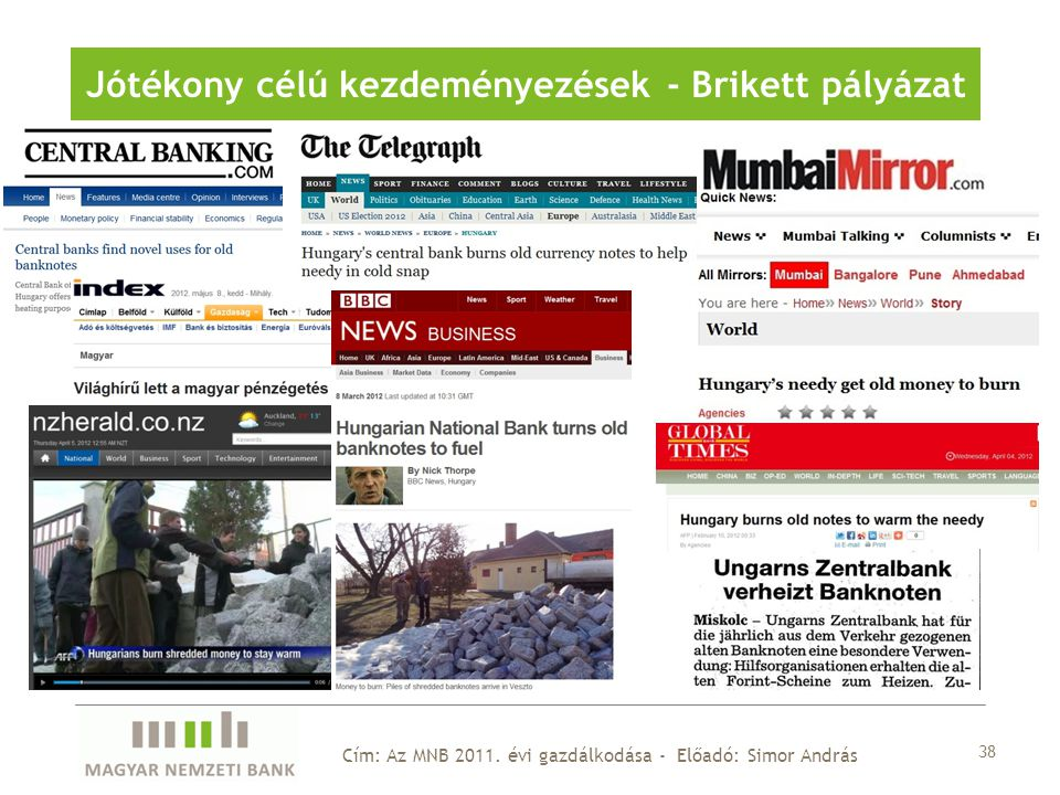 38 Cím: Az MNB 2011.