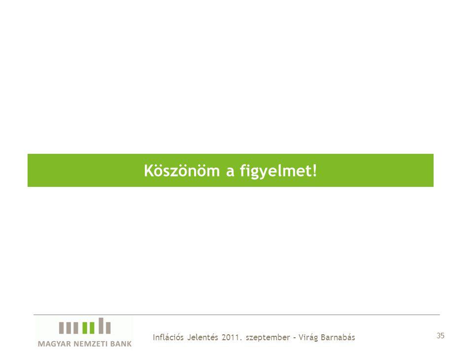 35 Köszönöm a figyelmet! Inflációs Jelentés 2011. szeptember – Virág Barnabás