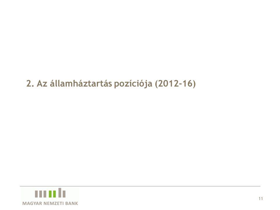 2. Az államháztartás pozíciója (2012-16) 11