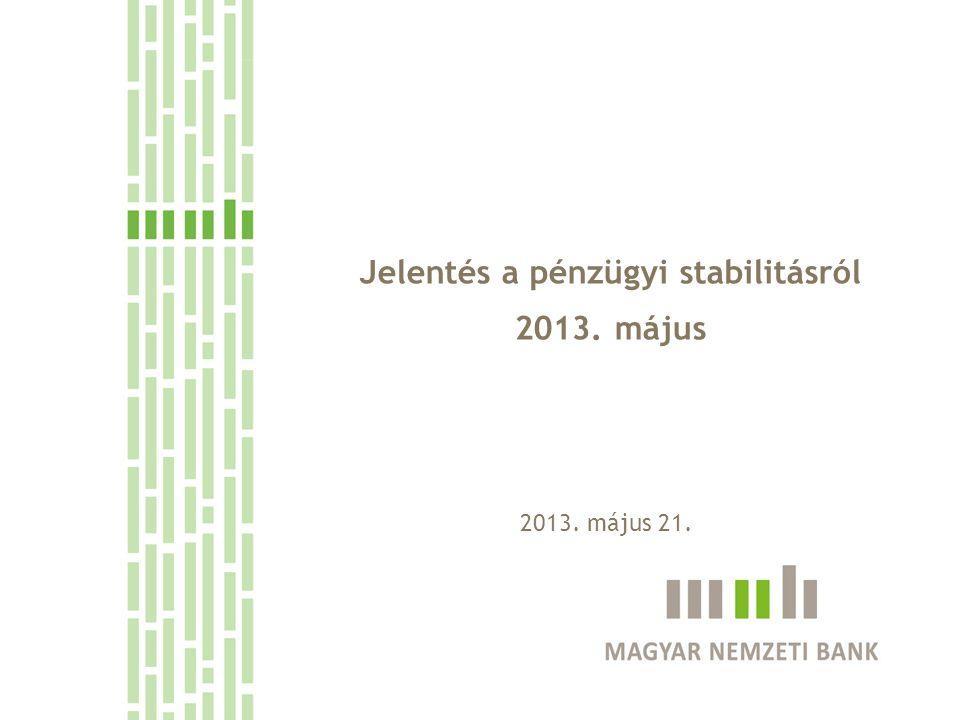 Jelentés a pénzügyi stabilitásról 2013. május 2013. május 21.