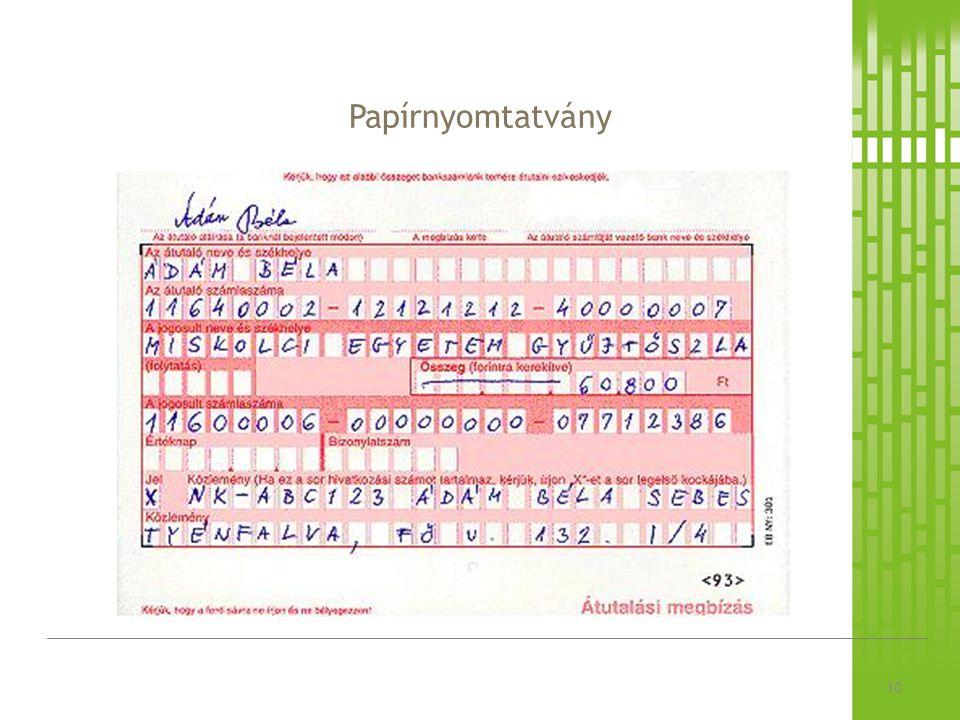 Papírnyomtatvány 10