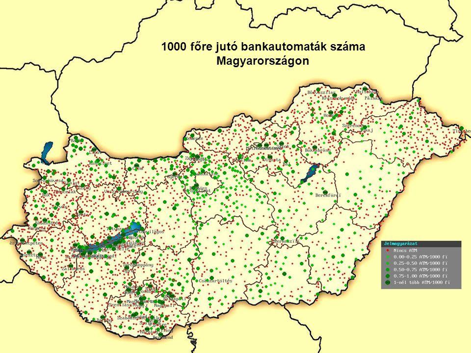 30 1000 főre jutó bankautomaták száma Magyarországon