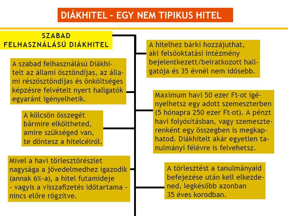 DIÁKHITEL – EGY NEM TIPIKUS HITEL