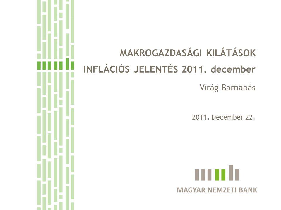 MAKROGAZDASÁGI KILÁTÁSOK INFLÁCIÓS JELENTÉS 2011. december Virág Barnabás 2011. December 22.