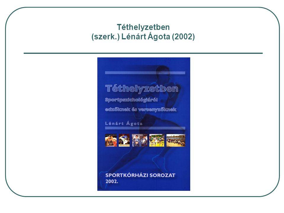Dr. Vingender István: (Semmelweis Egyetem Doktori Iskola, 2000) Ph.D. monográfia
