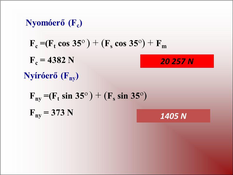 F t F s F i k t k s k i ki ki = 0.05 m Ft Ft = 450 N L t = 0.25 m Fs Fs = 200 N Ls Ls = 0.4 m F i = 3850 N