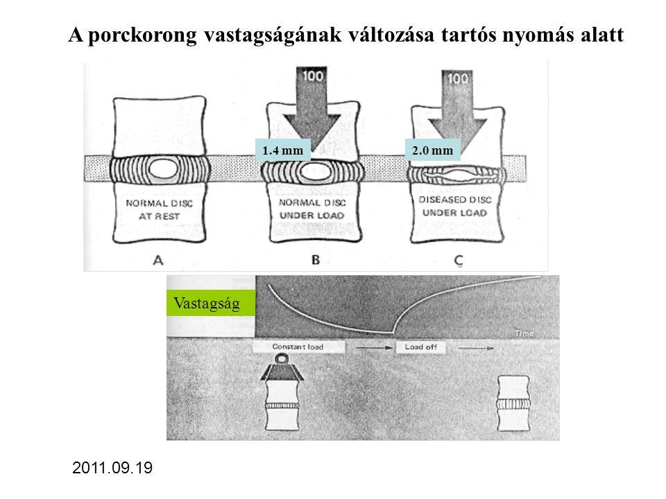 A nyomás csökkentése a nukleus pulposusban