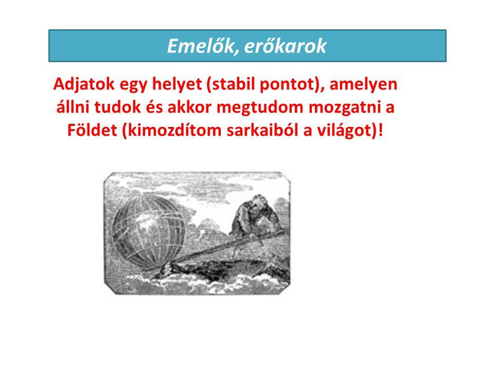 Arkhimédész (i.e. 287-212) A testek sűrűségének meghatározása Felhajtóerő felfedezése A súlypont meghatározása Egyszerű munkagépek (csiga, csavar)