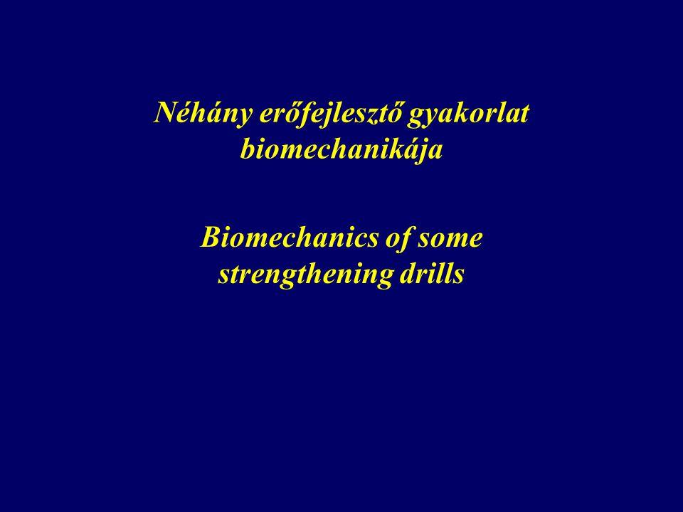 Néhány erőfejlesztő gyakorlat biomechanikája Biomechanics of some strengthening drills