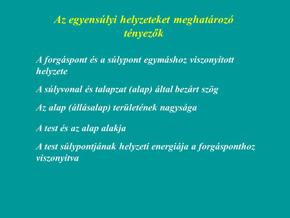 Felhajtóerő homogén és nem homogén anyageloszlású test esetén Közömbösstabil