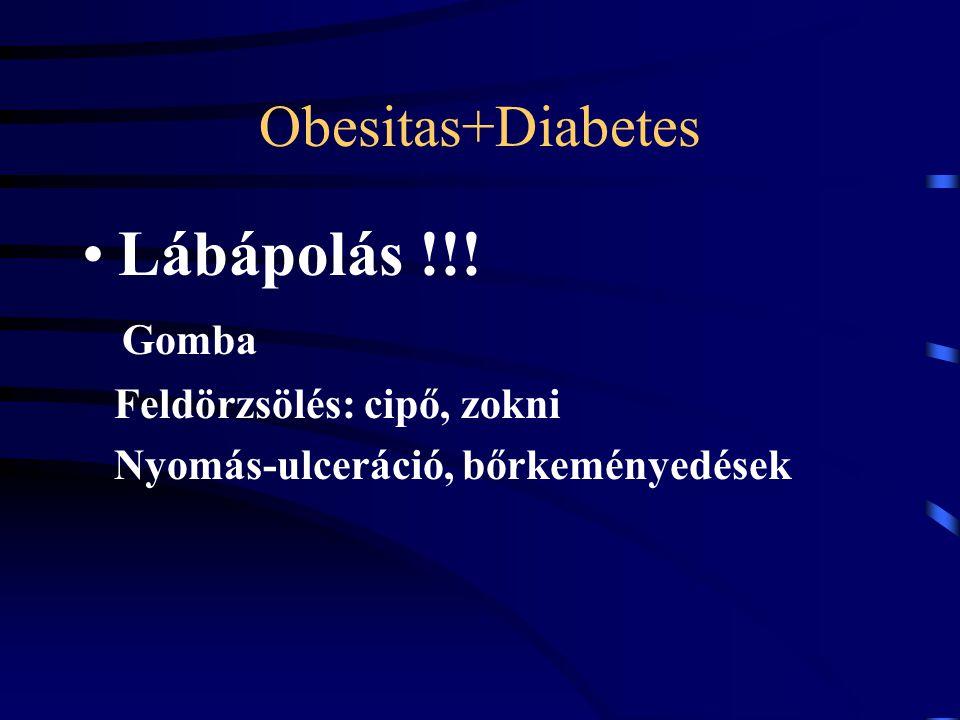 Obesitas+Diabetes Lábápolás !!! Gomba Feldörzsölés: cipő, zokni Nyomás-ulceráció, bőrkeményedések