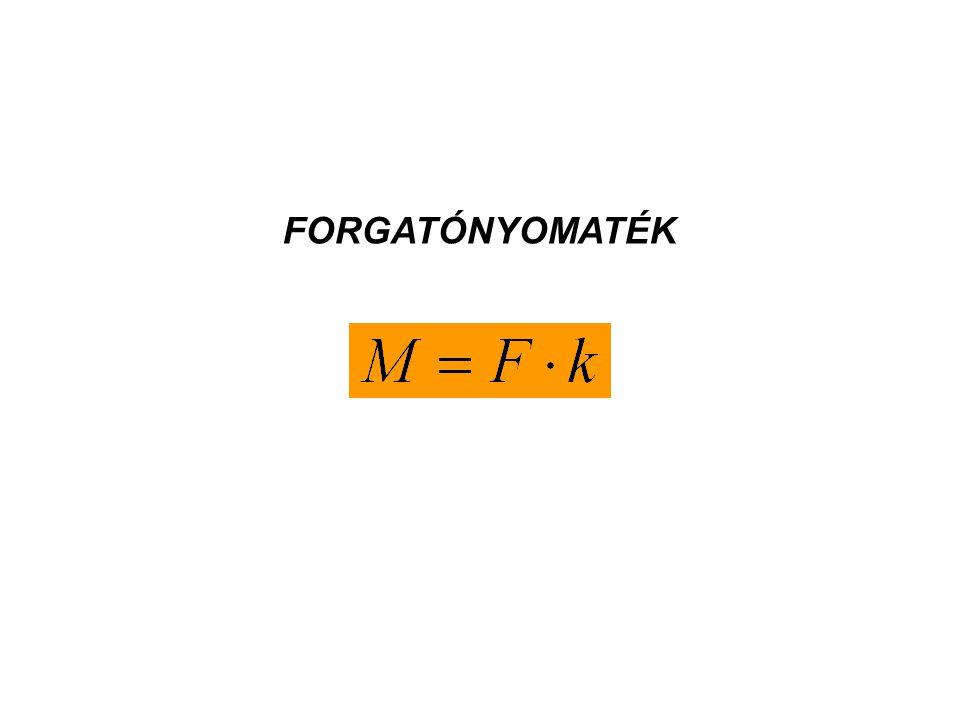 F1F1 F2F2 k F1 Az erőkar hosszának meghatározása