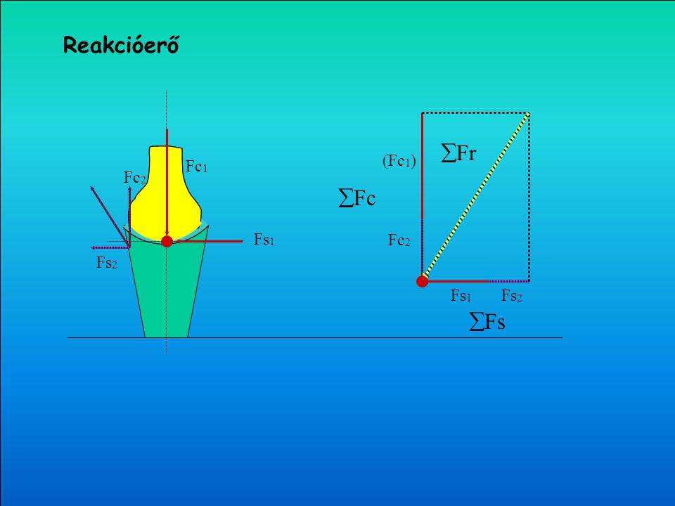 Nyíróerő (Fs) Reakcióerő (Fr) Nyomóerő (Fc) Reakcióerő (F t ) (Fc) (Fs) Fr = F t