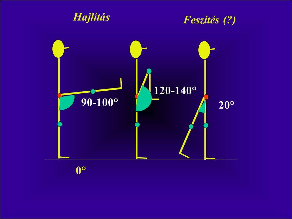 90-100° 20° 120-140° 0° Hajlítás Feszítés (?)