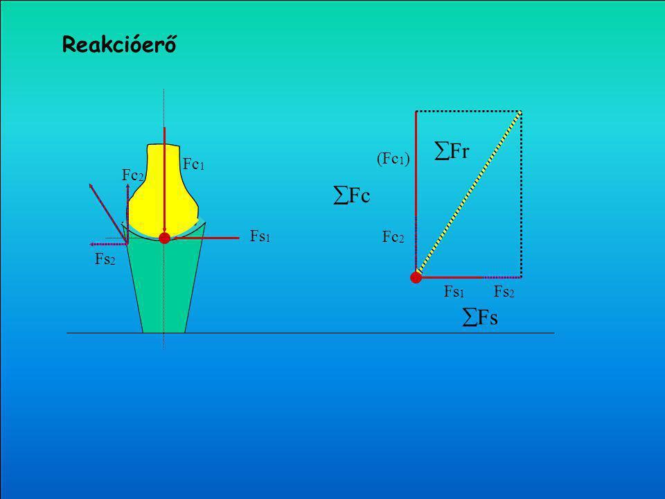 (Fc 1 ) Fc 2 Fs 1 Fs 2  Fc  Fs  Fr Fc 1 Fs 1 Fs 2 Fc 2 Reakcióerő