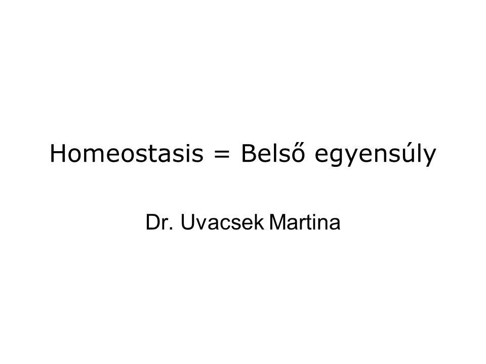 Homeostasis = Belső egyensúly Dr. Uvacsek Martina