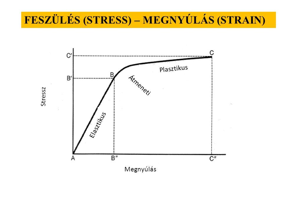 Hooke törvény F ll E=E=  - relatív megnyúlás  - mechanikai feszültség F ̴  l E – rugalmassági vagy Young modulus