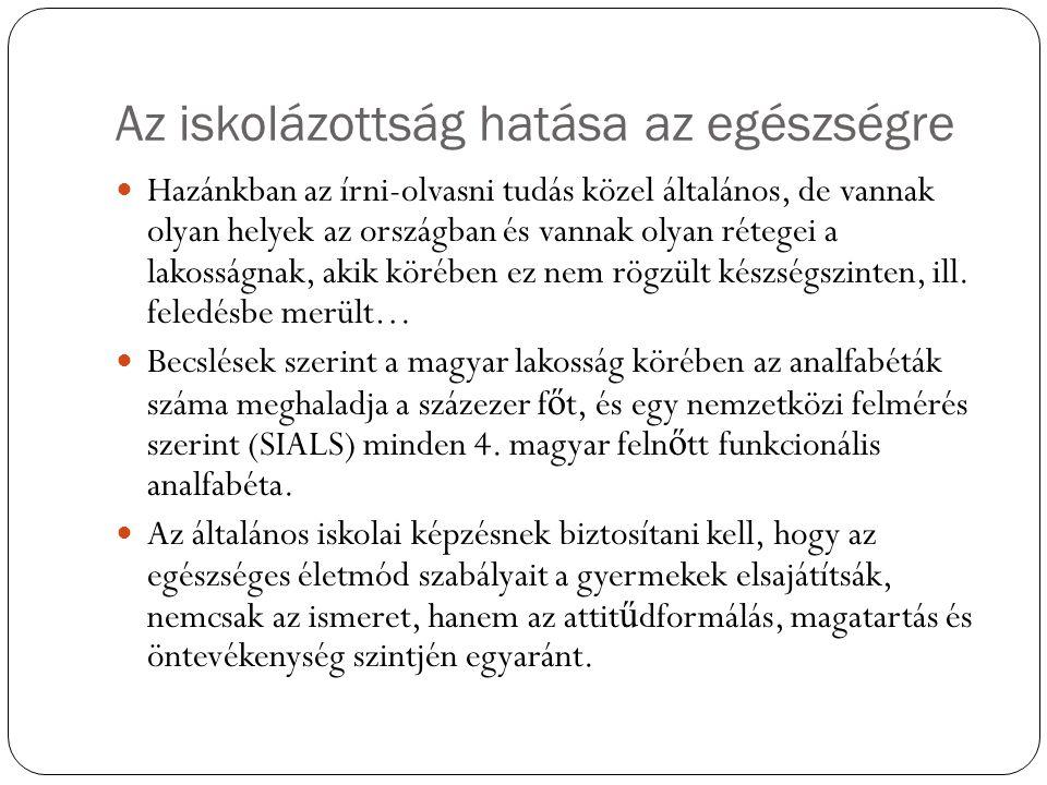 Az idős magyar lakosság Magas a krónikus betegségek rejtett morbiditása, vagyis a nem diagnosztizált és nem kezelt kórállapotok el ő fordulása.