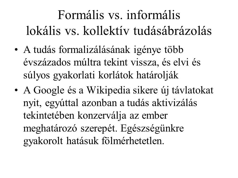 Formális vs. informális lokális vs.