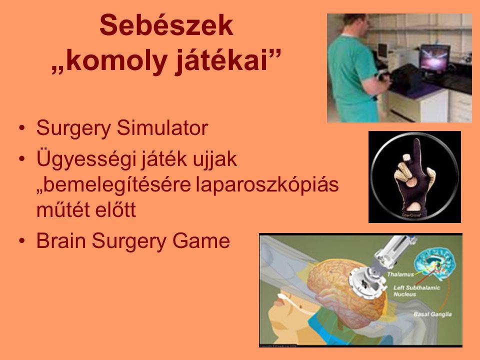"""Sebészek """"komoly játékai"""" Surgery Simulator Ügyességi játék ujjak """"bemelegítésére laparoszkópiás műtét előtt Brain Surgery Game"""