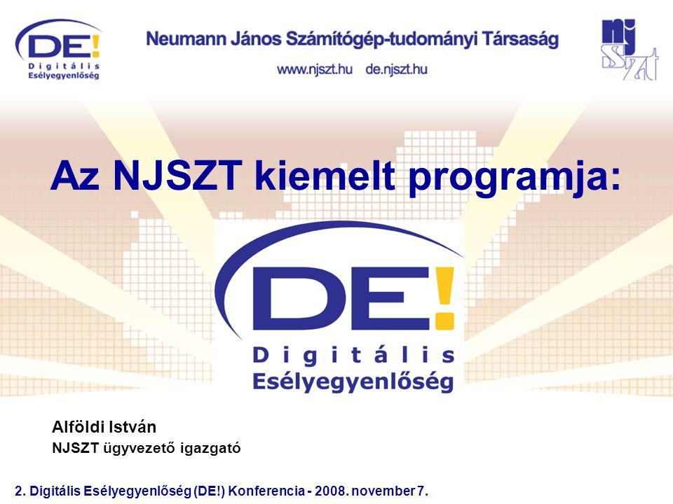 2.Digitális Esélyegyenlőség (DE!) Konferencia - 2008.