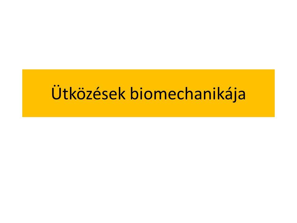 Ütközések biomechanikája