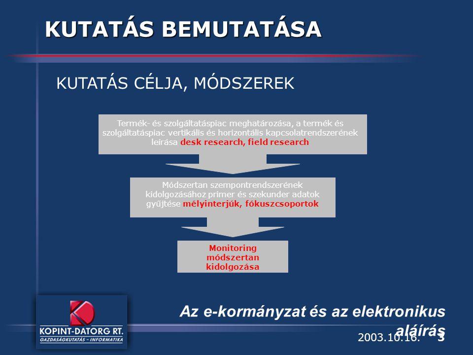 3 Az e-kormányzat és az elektronikus aláírás 2003.10.16.