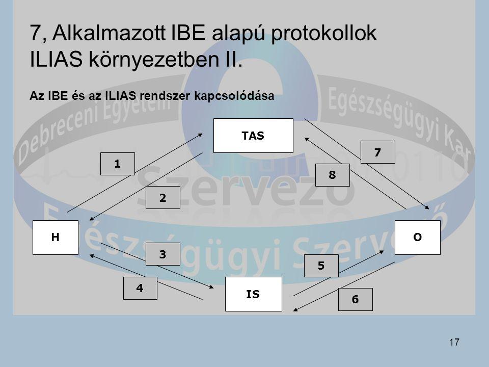17 7, Alkalmazott IBE alapú protokollok ILIAS környezetben II.