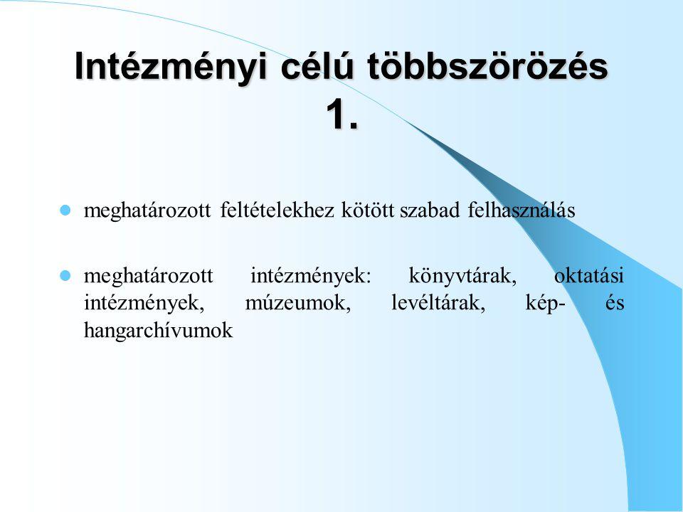 Intézményi célú többszörözés 1.
