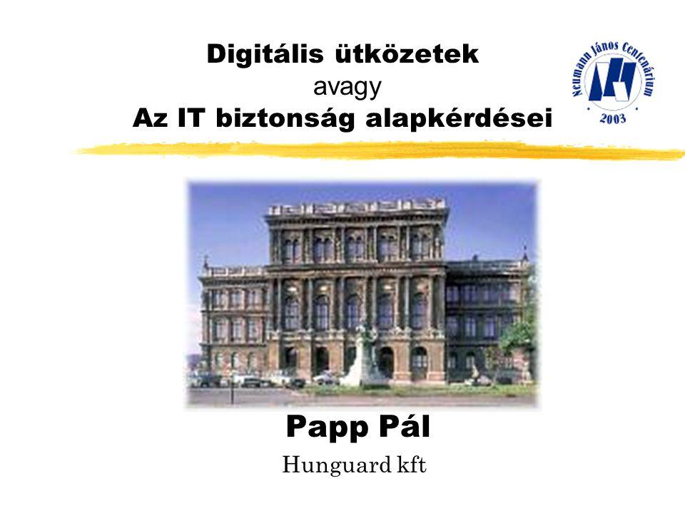 Digitális ütközetek avagy Az IT biztonság alapkérdései Papp Pál Hunguard kft
