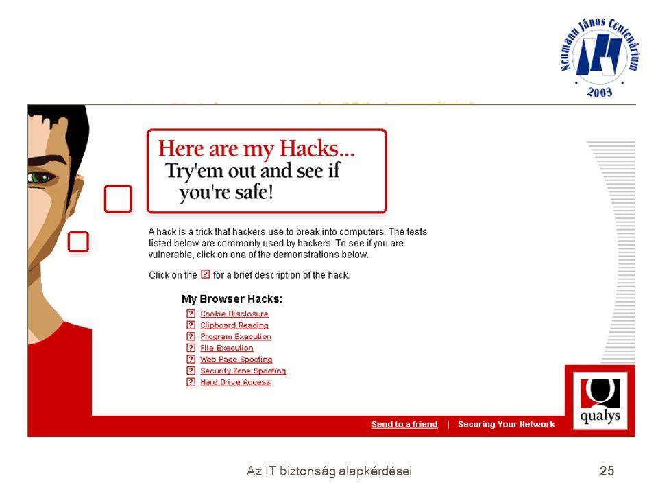 Az IT biztonság alapkérdései 25