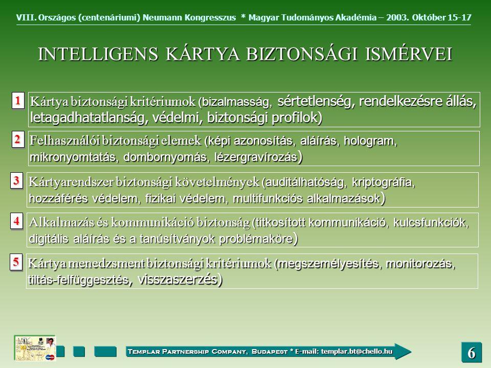 VIII.Országos (centenáriumi) Neumann Kongresszus * Magyar Tudományos Akadémia – 2003.