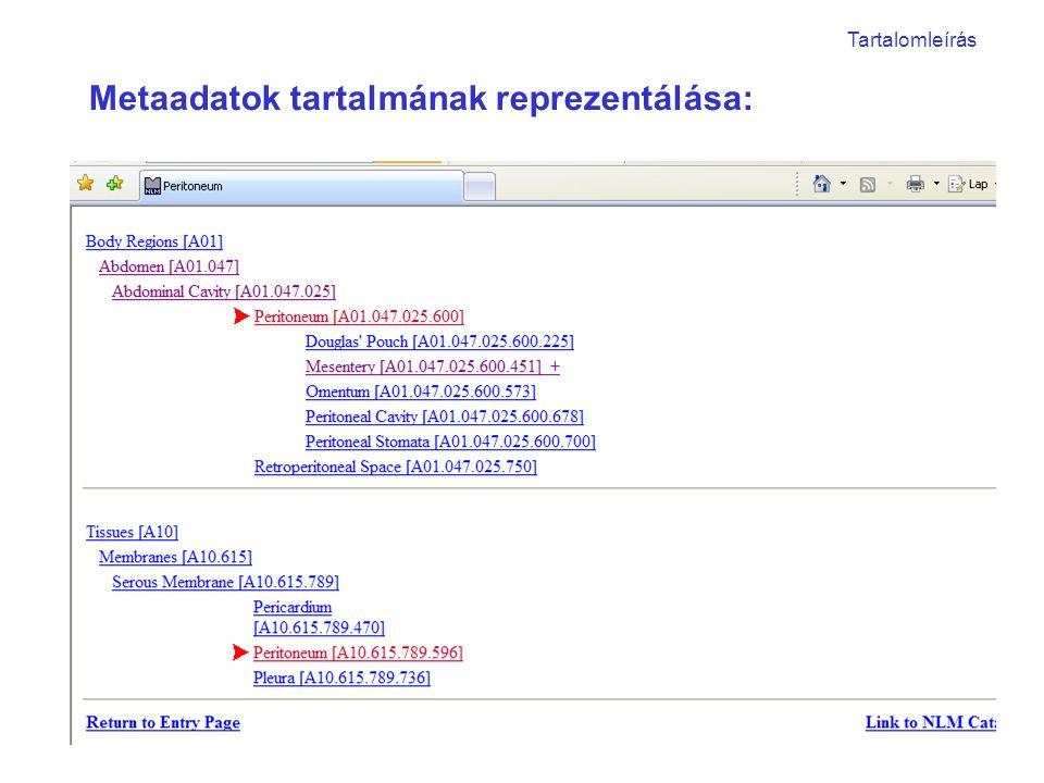 Windows: Tulajdonságok (Fájlon kívül).JPEG: Exif (Fájlban tárolt) Metaadatok reprezentálásának módja: