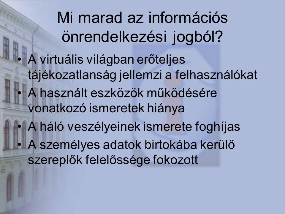 Mi marad az információs önrendelkezési jogból.
