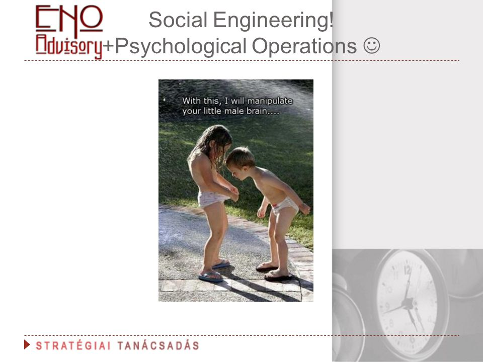 Social Engineering! +Psychological Operations
