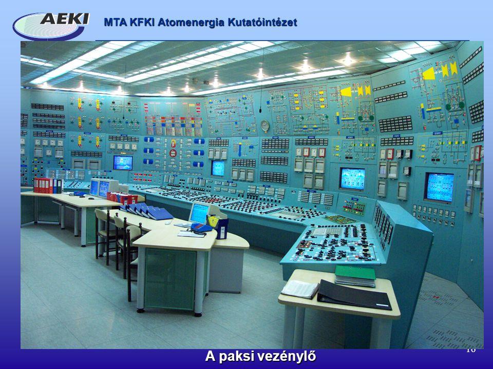 MTA KFKI Atomenergia Kutatóintézet 16 A paksi vezénylő