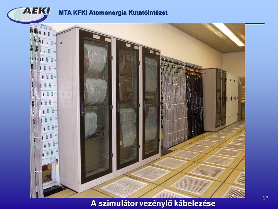 MTA KFKI Atomenergia Kutatóintézet 17 A szimulátor vezénylő kábelezése